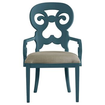 Stanley Coastal Living Retreat English Blue Wayfarer Arm Chair