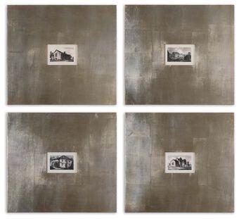 Uttermost Historical Buildings Framed Art Set/4