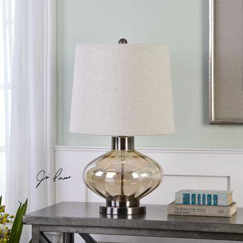 Uttermost Sava Amber Glass Lamp