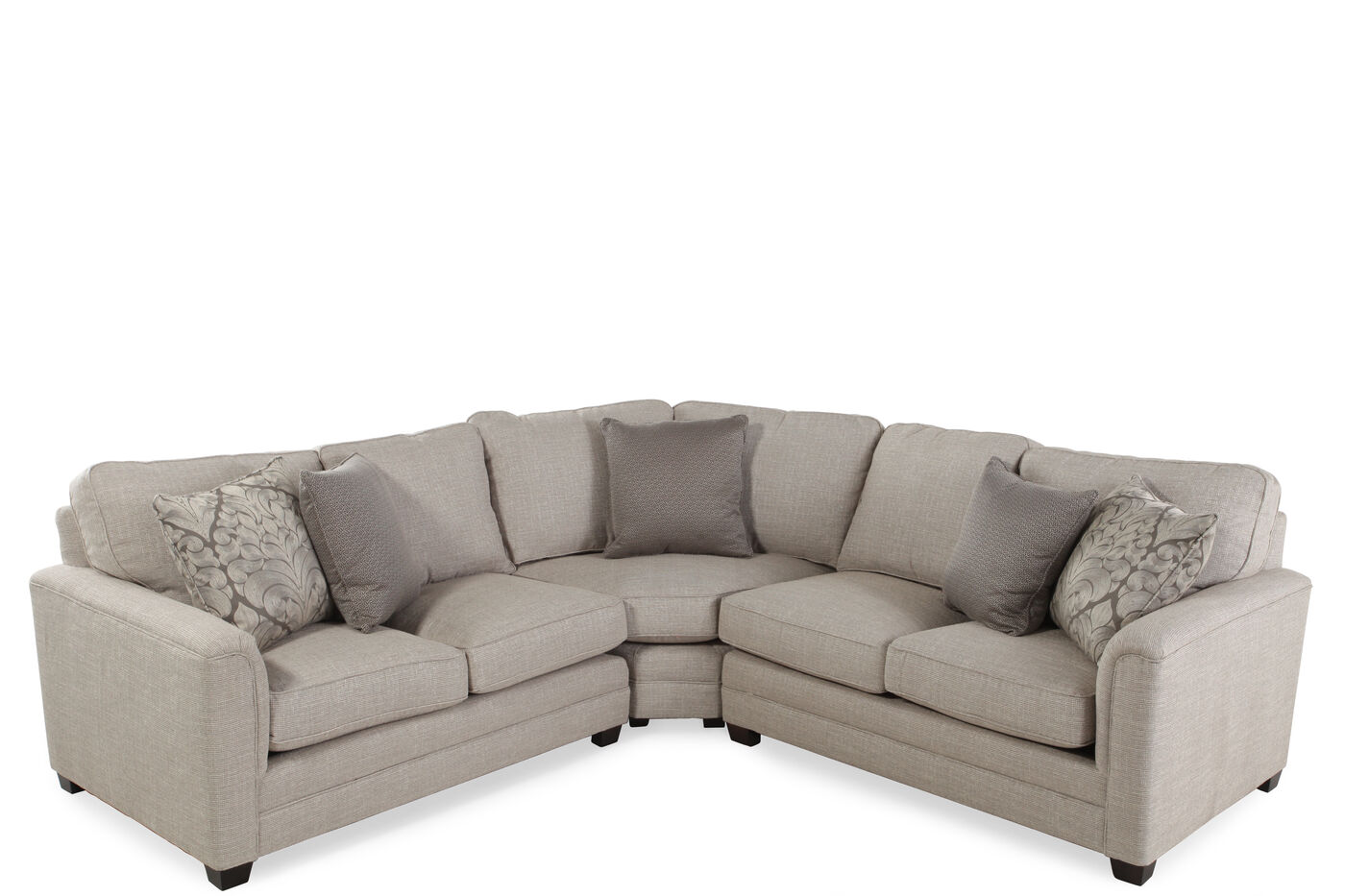 Sam moore raleigh 3 piece sectional mathis brothers for Sectional sofas raleigh