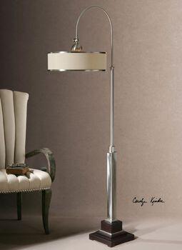 Uttermost Amerigo Brushed Aluminum Floor Lamp