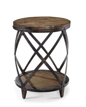 Magnussen Home Pinebrook Round Accent Table