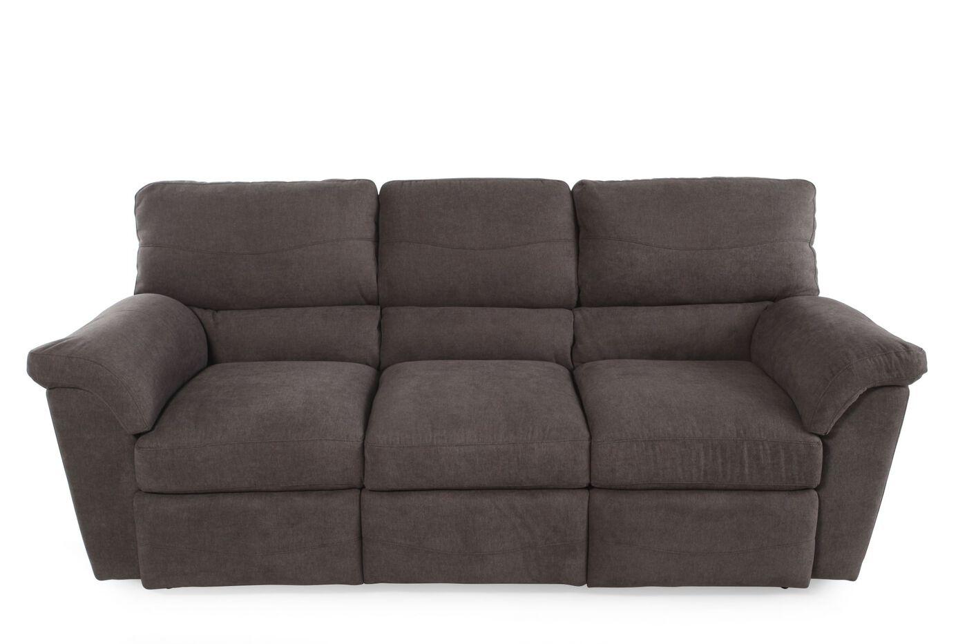 La z boy reese granite reclining sofa mathis brothers furniture - Sofa reclinable ...