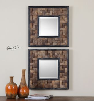 Uttermost Barros Squares S/2 Mirror