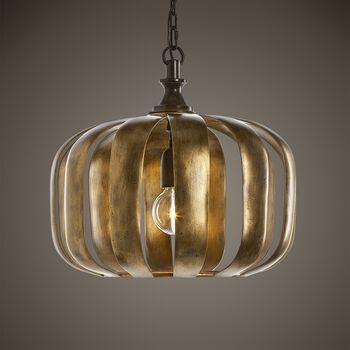 Uttermost Zucca 1 Light Antique Gold Pendant