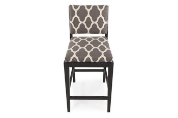 Boulevard Gray Quatrefoil Counter Stool
