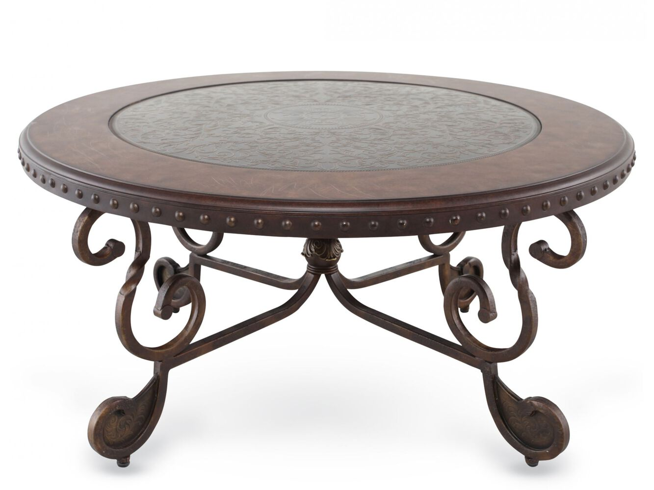 Round cocktail table ashley mathis brothers for Rafferty coffee table