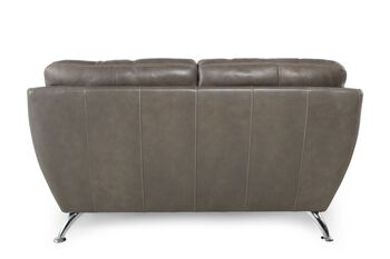 Simon Li Leather Longhorn Steel Loveseat