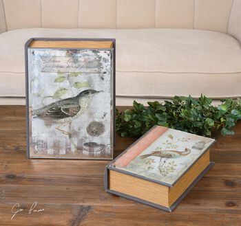Uttermost Candan Brown Gold Boxes S/2
