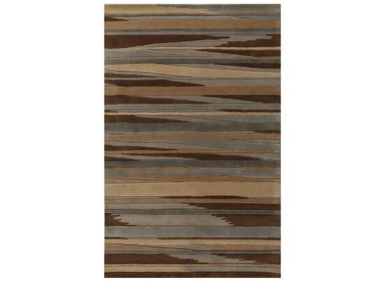 LBJ Ind Tufted Br-11 Blue / Brown Abstract Rug