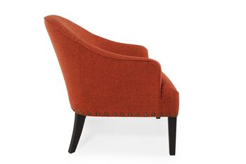 Boulevard Orange Chair with Nailhead Trim