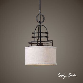Uttermost Cupola 1 Light Mini Drum Pendant