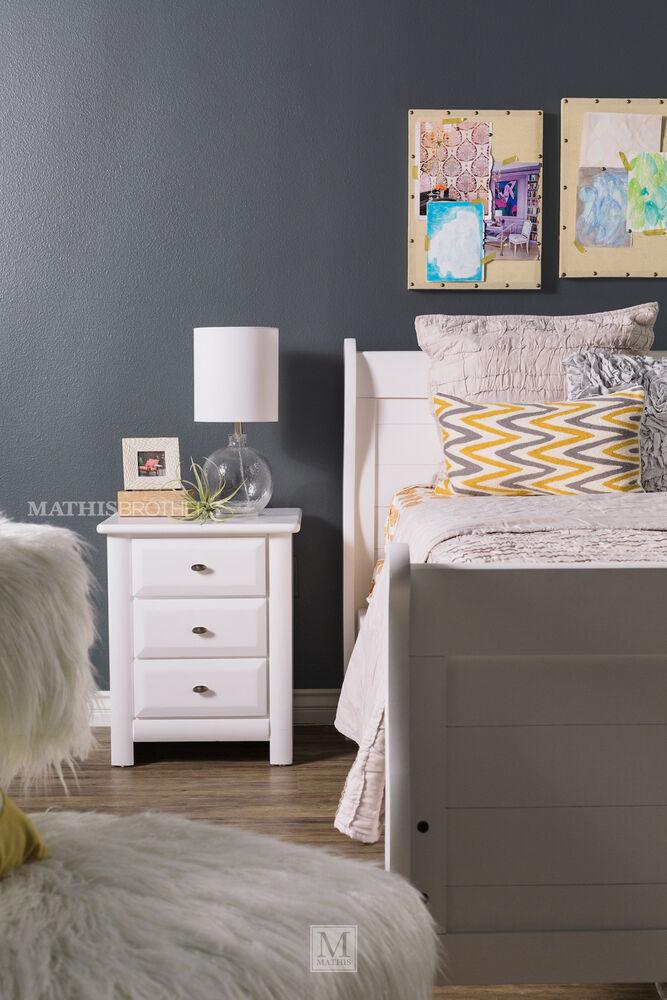 Trendwood Laguna White Sleigh Bed Mathis Brothers Furniture
