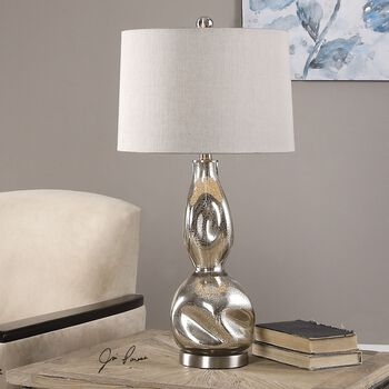 Uttermost Dovera Mercury Glass Lamp