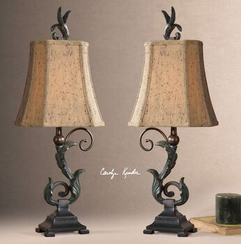 Uttermost Caperana Black Buffet Lamps Set/2