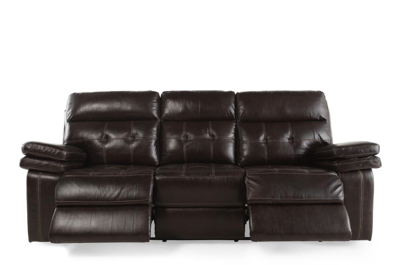 Verona Houston Brown Power Sofa Mathis Brothers Furniture