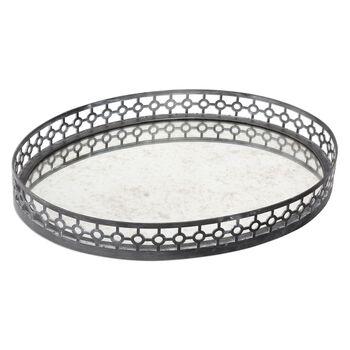 Uttermost Alessandra Oxidized Gray Tray