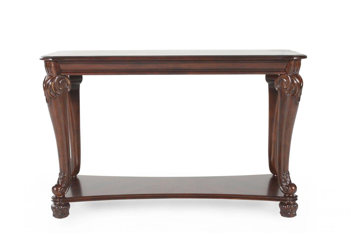 Ashley norcastle rectangular sofa table mathis brothers for 5 sofa table