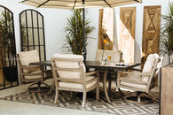 Castelle Roma Rectangular Patio Dining Table