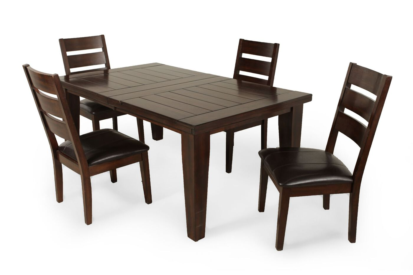 Ashley larchmont five piece extension dining set mathis brothers furniture for Ashley furniture 5 piece living room set
