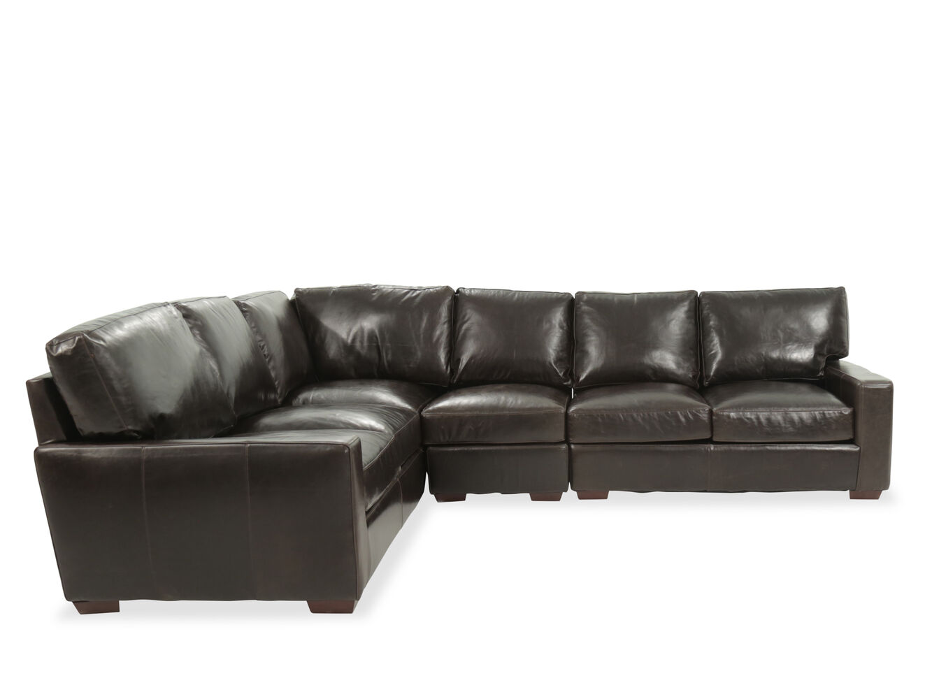 Usa Leather Brompton Tobacco Four Piece Sectional Mathis