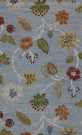 LBJ Hand Tufted Wool/Viscose Sky/sky 8' X 8' Round Rug