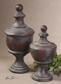 Uttermost Gracelyn Antique Finials, Set/2