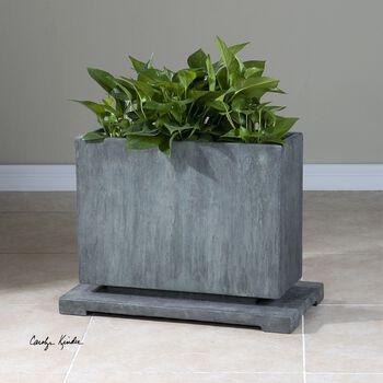 Uttermost Vito Slate Blue Planter