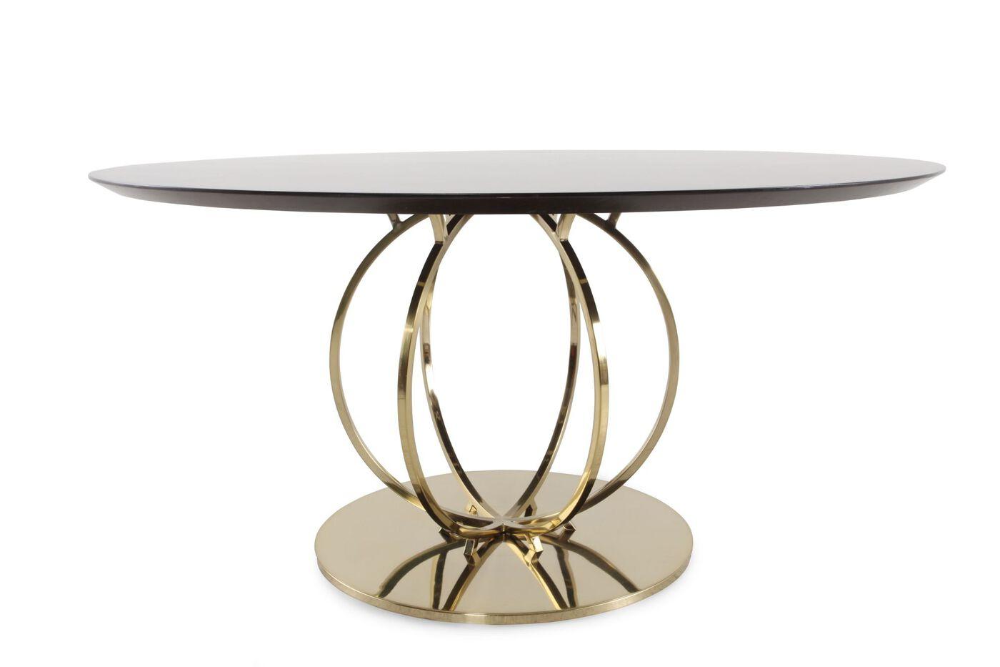 Bernhardt Jet Set Round Dining Table - Bernhardt Jet Set Round Dining Table Mathis Brothers Furniture