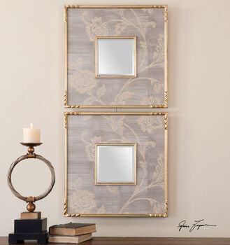 Uttermost Evelyn Square Mirrors, S/2