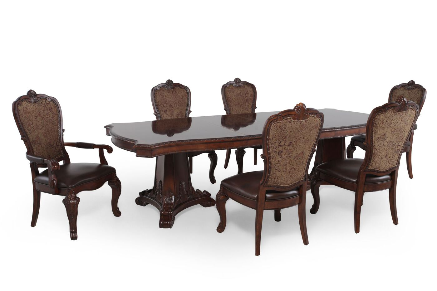 Old World Dining Room Sets Art Furniture Seven Piece Old World Pedestal Table Dining Set