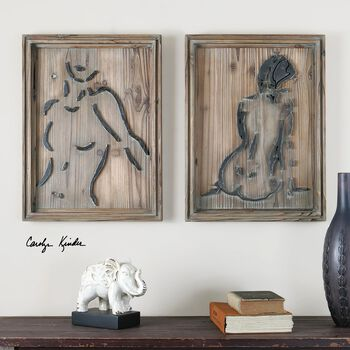 Uttermost Silhouettes Wood Wall Art S/2