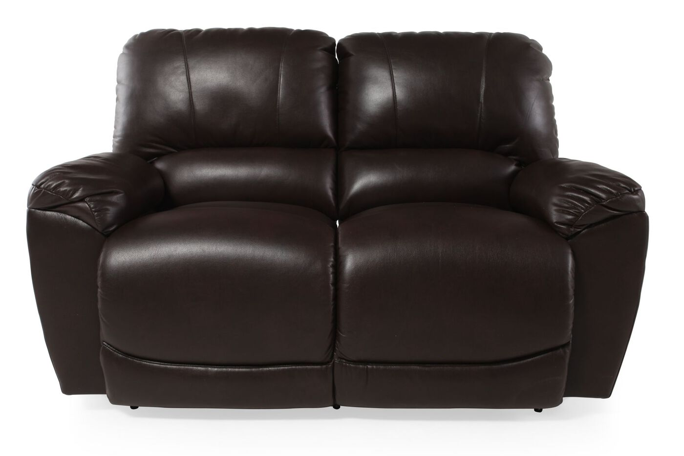 La Z Boy Tyler Mahogany Reclining Loveseat Mathis Brothers Furniture