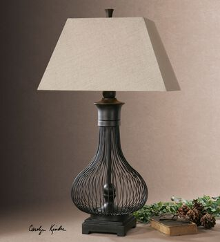 Uttermost Horatio Metal Cage Table Lamp
