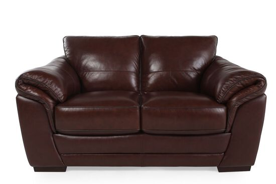 Violino Apollo Leather Loveseat Mathis Brothers Furniture