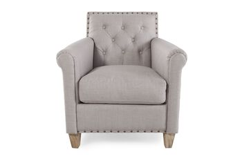 Boulevard Club Chair with Nail Heads