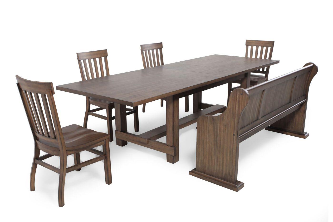 magnussen home karlin six piece dining set - Magnussen Dining Room Furniture