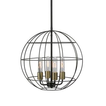 Uttermost Palla 4 Light Sphere Pendant