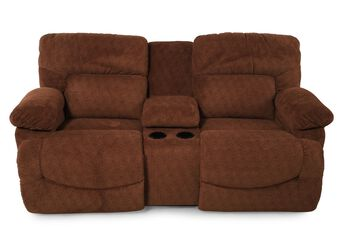 La-Z-Boy Asher Caramel Dual Recliner with Console