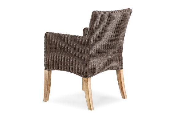 World Source Vineyard Haven Teak Wicker Arm Chair