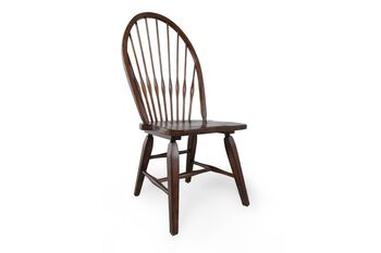 Broyhill Attic Rustic Oak Windsor Pair of Side Chairs