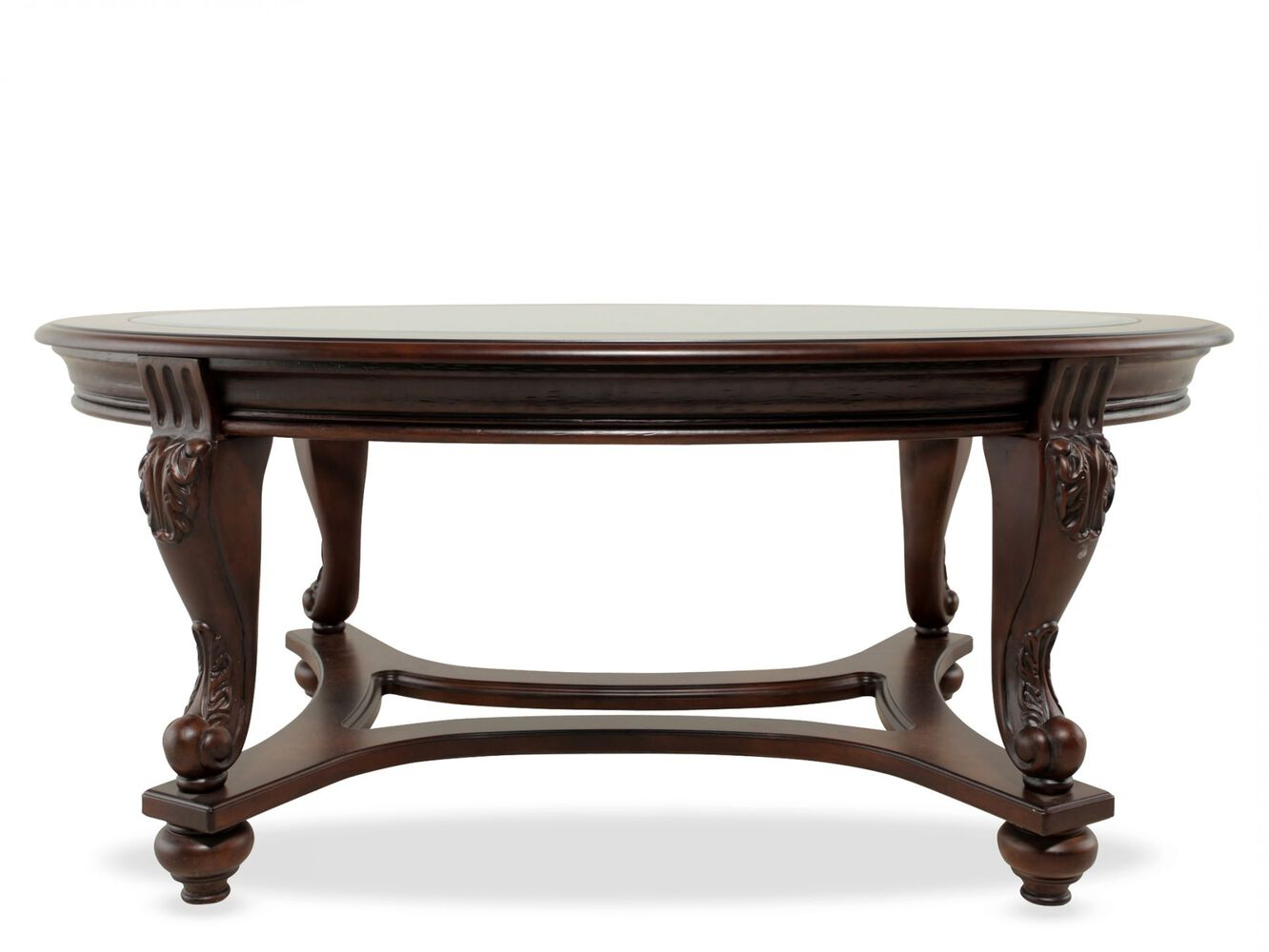 Ashley norcastle oval cocktail table mathis brothers for Living coffee table