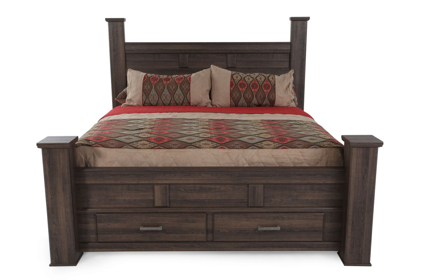 Ashley Juararo Storage Bed Mathis Brothers Furniture