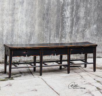 Uttermost Dalit Mahogany 3-seat Bench