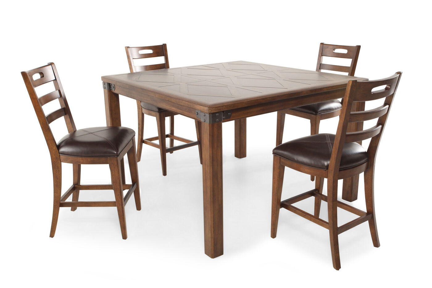 Pulaski heartland falls five piece gathering pub dining set mathis brothers furniture - Pub dining room sets ...