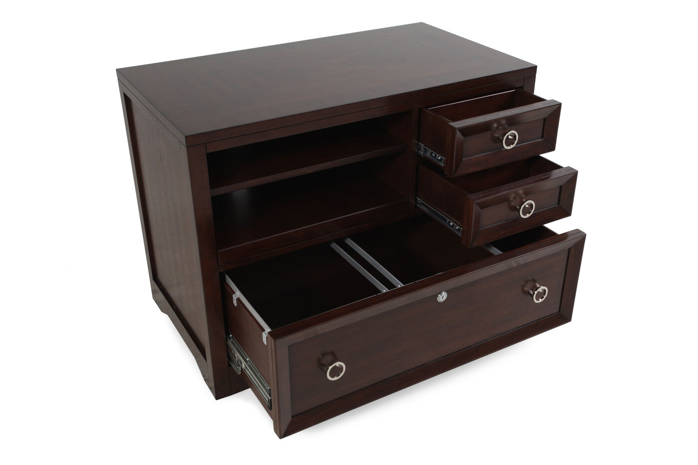 Filing Cabinets For Home Office Hooker Home Office Kinsey Utility File Mathis Brothers Furniture