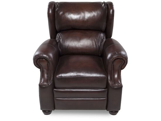 Bernhardt Warner Leather Recliner Mathis Brothers Furniture