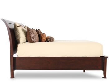 Winners Only Vintage Cherry Sleigh Storage Bed