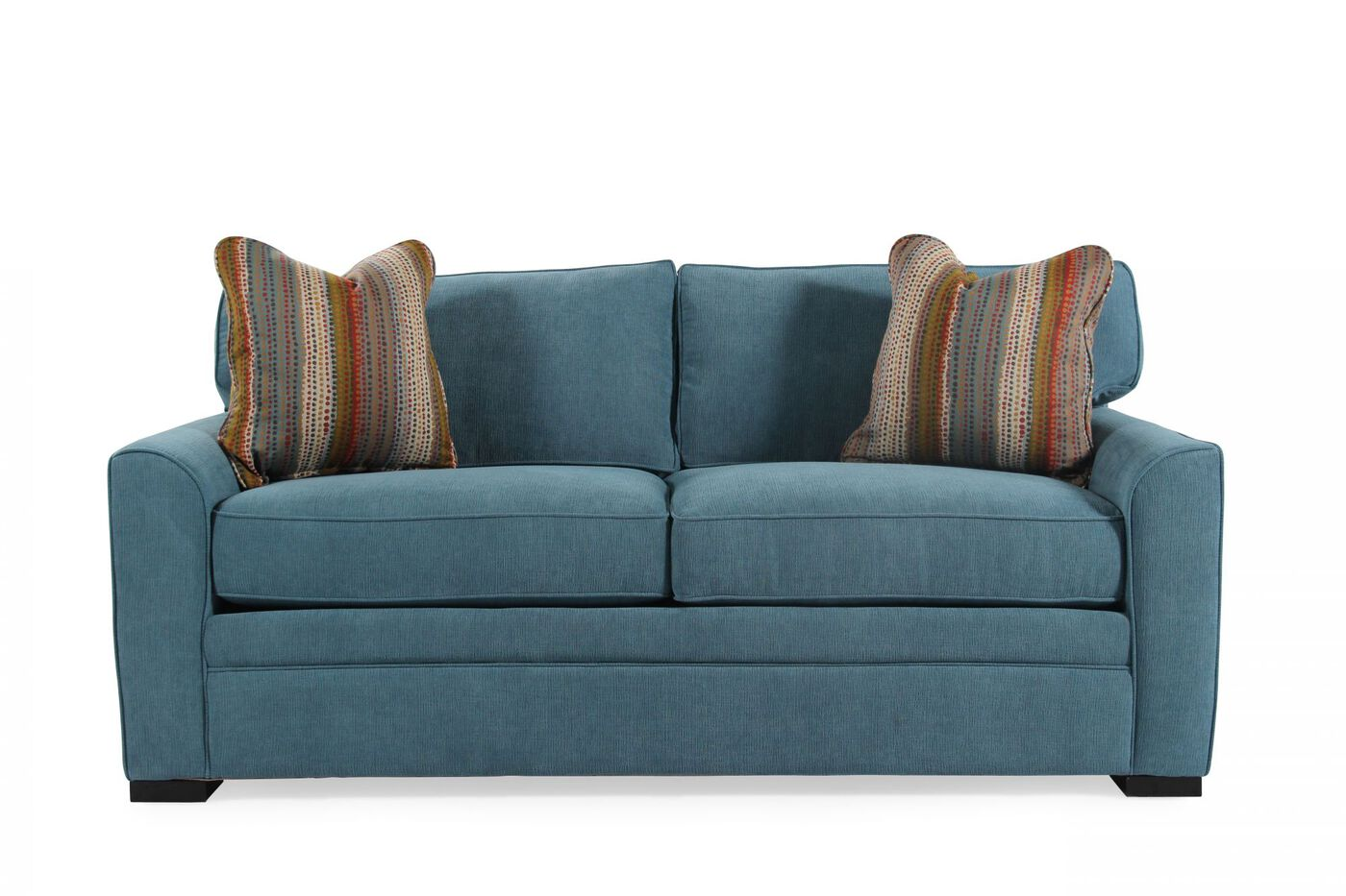 Jonathan Louis Blissful Blue Full Memory Foam Sleeper Sofa Mathis Brothers Furniture