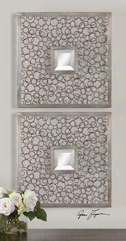 Uttermost Colusa Squares Silver Mirror Set/2